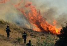 Λαύριο: Φωτιά σε εξέλιξη