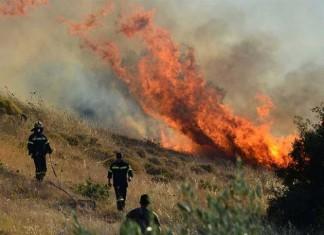 Φωτιά στη Μάνδρα Αττικής