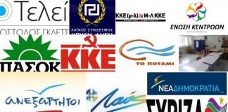 Ποια κόμματα δήλωσαν συμμετοχή στον Άρειο Πάγο