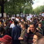 Διαδηλώσεις πρόσφυγες