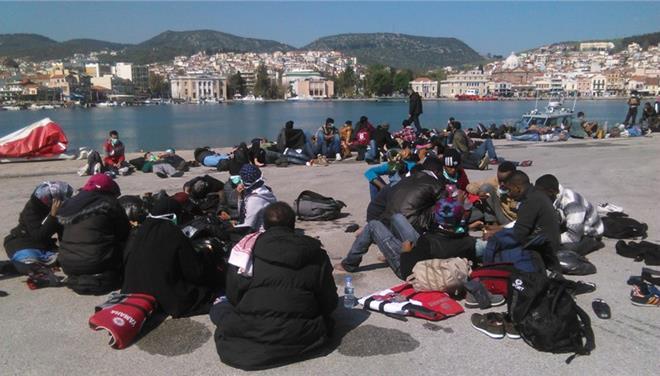 εξέγερση, μεταναστών, Μυτιλήνη,