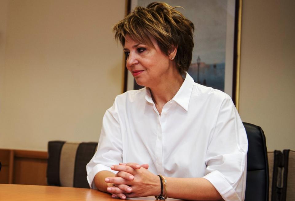Όλγα Γεροβασίλη, κατά την ενημέρωση των πολιτικών συντακτών
