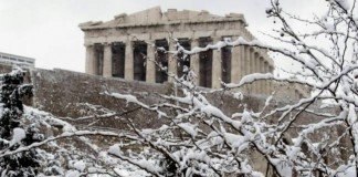 Η χιονισμένη Αττική από drone