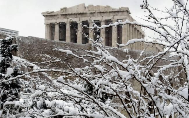 χιόνι, Αθήνα, Πειραιάς,
