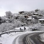 δυσκολία, κυκλοφορία αυτοκινήτων, χιόνια, ορεινή Πέλλα,