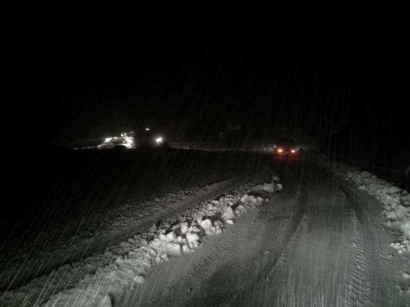 Κλειστή η λεωφόρος Χασιάς προς Δερβενοχώρια, λόγω χιονόπτωσης
