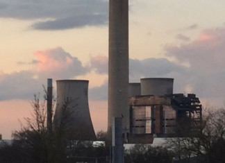 έκρηξη, σταθμός ενέργειας, Αγγλία,