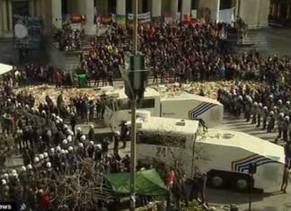 Βρυξέλλες, διαδήλωση, επεισόδια,