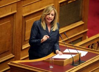 Βουλή - Γεννηματά: Δεν θα σας επιτρέψουμε να θάψετε το ζήτημα κάτω από τόνους πολιτικής λάσπης