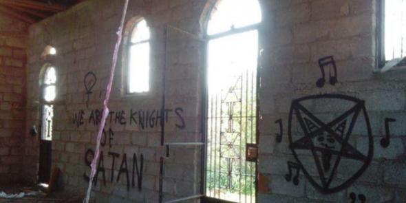 σατανιστές, βεβήλωσαν, Ιερό Ναό,