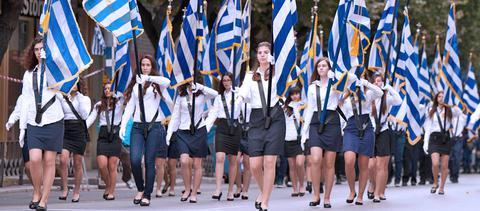 αντιπαράθεση, ΣΥΡΙΖΑ, Ν.Δ., σημαιοφόρους,
