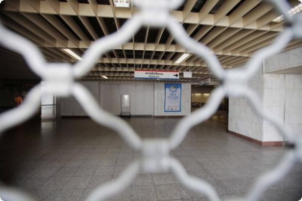 μετρό, κλειστοί, τέσσερις, σταθμοί,