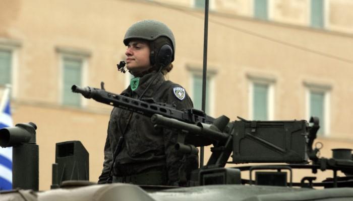 Σύνταγμα, στρατιωτική παρέλαση,