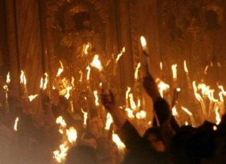 Στην Ιερουσαλήμ για την Αφή του Άγιου Φωτός η ελληνική αποστολή