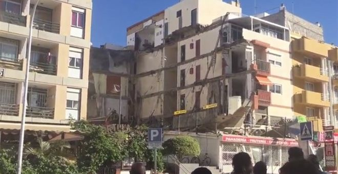 Ισπανία, Τενερίφη, κατέρρευσε, κτήριο,