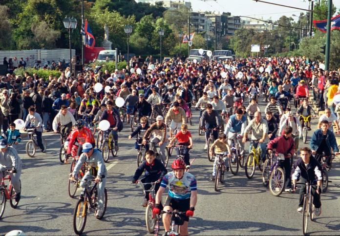 Κυριακή, Αθήνα, Ποδηλατικός Γύρος,
