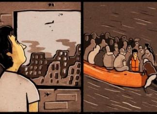 Guardian, σκίτσο, πρόσφυγες,