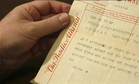 Δημήτρηw Χορν, Edith Piaf, επιστολή,