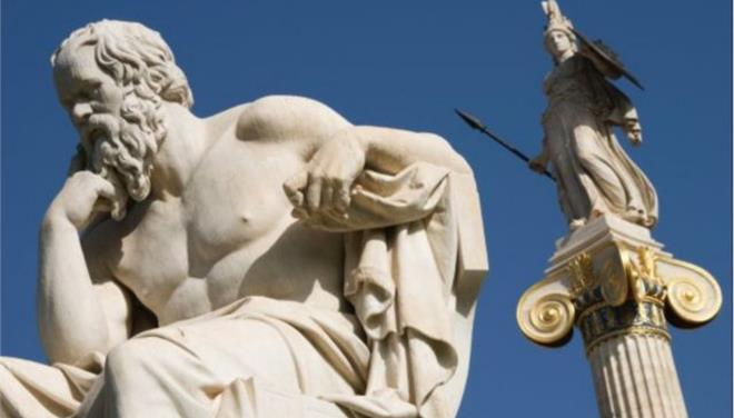 Bild, προκαλεί, άγαλμα, Σωκράτη,