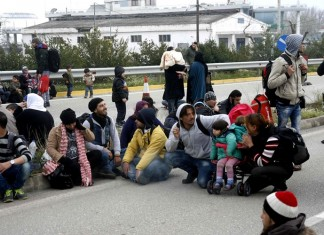 Εγνατία, διαμαρτυρία, πρόσφυγες,