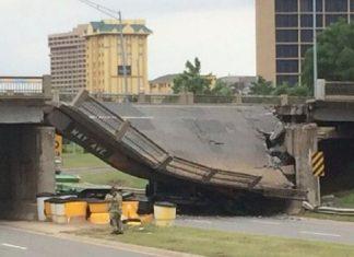 γέφυρα, Οκλαχόμα, κατέρρευσε,