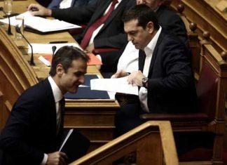 Σκληρή κόντρα στην Βουλή Τσίπρα - Μητσοτάκη