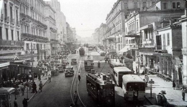 Καραμανλής, τραμ, 1955,