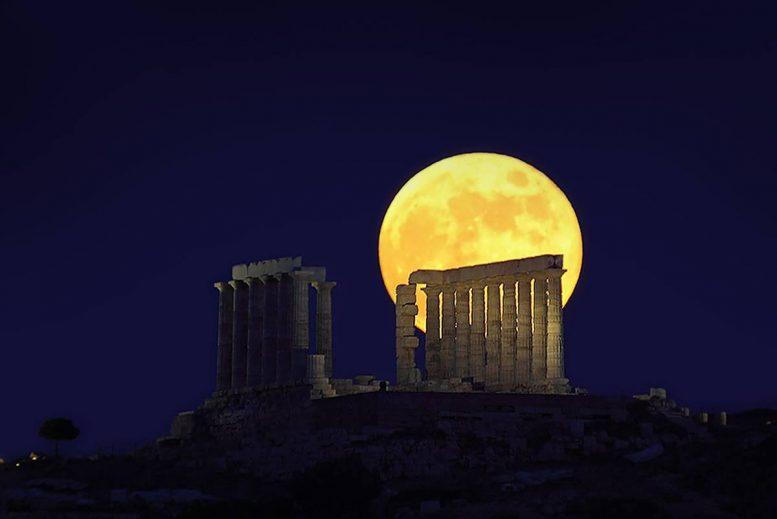 Αστεροσκοπείο Αθηνών, βραδιά, πανσέληνου,