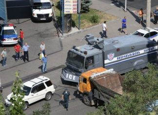 Αρμενία, αστυνομικό τμήμα, όμηροι,