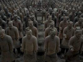 Αρχαίοι, Έλληνες, Κίνα, πήλινος στρατός,