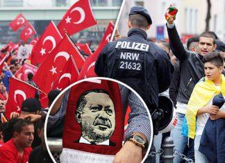 Γερμανία, διαδηλωτές, Ερντογάν,