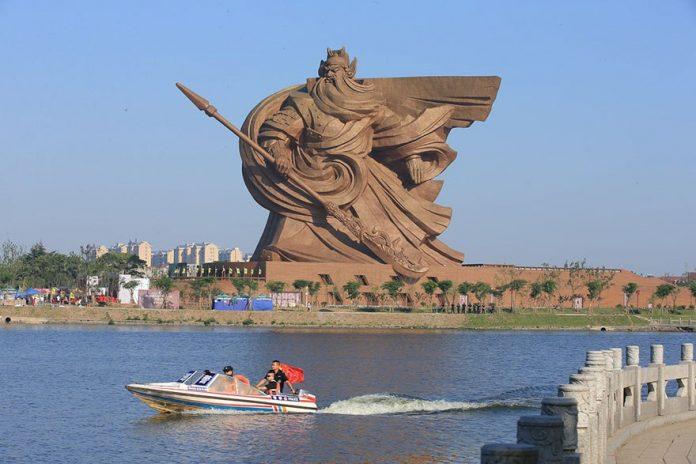 Κίνα, άγαλμα, θεού, πολέμου,