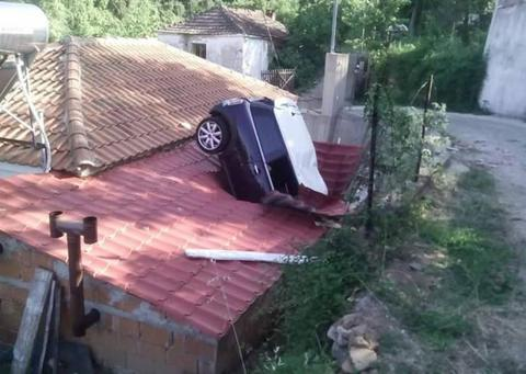 αυτοκίνητο, στέγη, σπιτιού,