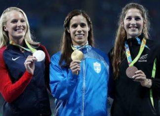 Χρυσό μετάλλιο, Κατερίνα Στεφανίδη, σημαιοφόρος,