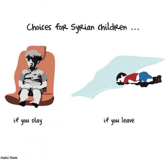 σκίτσο, ανήλικους, πρόσφυγες,