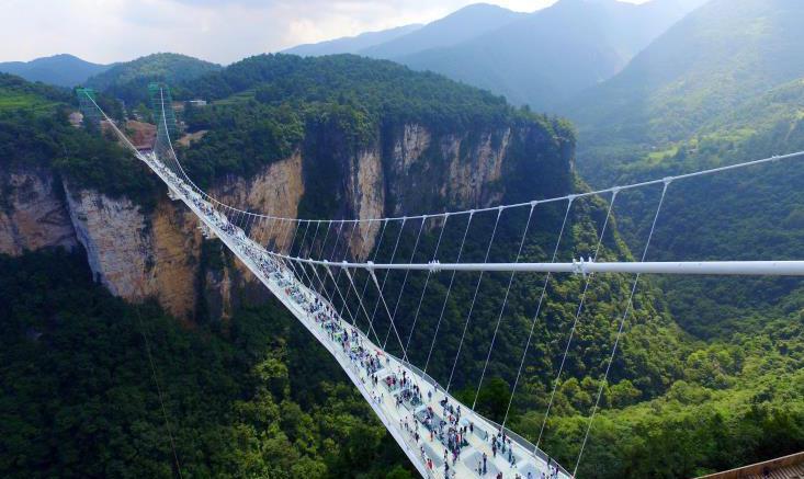 Κίνα, μεγαλύτερη, γυάλινη, γέφυρα,