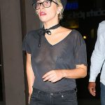 Lady Gaga shows off her assets in a sheer back shirt in New York  Pictured: Lady Gaga Ref: SPL1328820  010816   Picture by: Jackson Lee/ Splash News  Splash News and Pictures Los Angeles:310-821-2666 New York:212-619-2666 London:870-934-2666 photodesk@splashnews.com