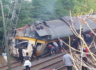 εκτροχιασμός, τρένου, Ισπανία,