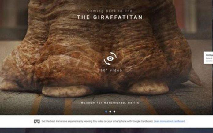 Google Arts&Culture, κόσμος, δεινοσαύρων,