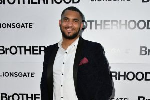 Brotherhood actor found dead  Aaron Eaton arriving at the Brotherhood London premiere, 23/08/2016