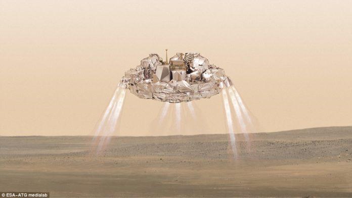 Schiaparelli, Άρη, προσεδαφίστηκε,