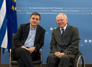 Ελληνική κυβέρνηση, Σόιμπλε, σύγκρουση,
