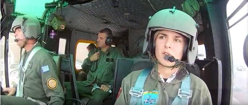 γυναίκα, πιλότος, ελικόπτερο,