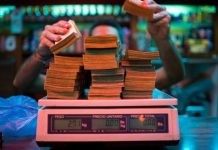 Βενεζουέλα, χρήματα, ζυγίζουν,