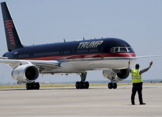 Τραμπ, αεροπλάνο, χλιδάτο,