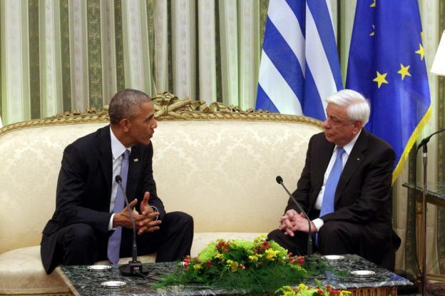 Ομπάμα, Παυλόπουλος, Προεδρικό Μέγαρο,
