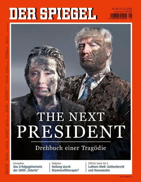 Spiegel, πρωτοσέλιδο, Τράμπ, Κλίντον,