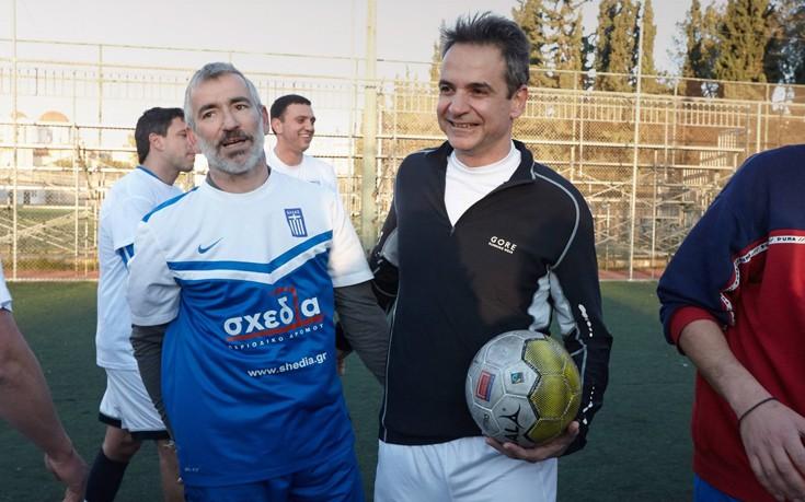 Κυριάκος Μητσοτάκης, ποδόσφαιρο, Εθνική Ομάδα Αστέγων,