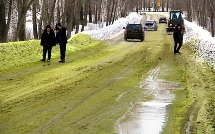 Ρωσία, Πρασίνισε, χιόνι,