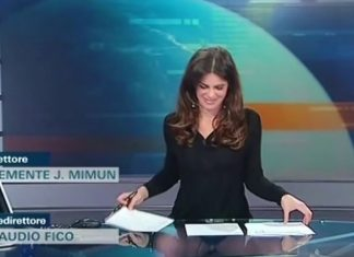 παρουσιάστρια, δελτίο ειδήσεων, ιταλικό κανάλι,